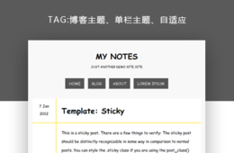 wordpress博客日記主題—My Notes