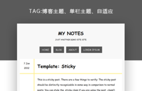 wordpress博客日记主题—My Notes